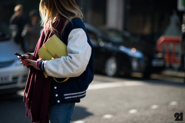 street style, street stalk, trend, yellow, varsity jacket, fashion, style, sbyb, style by yellow button