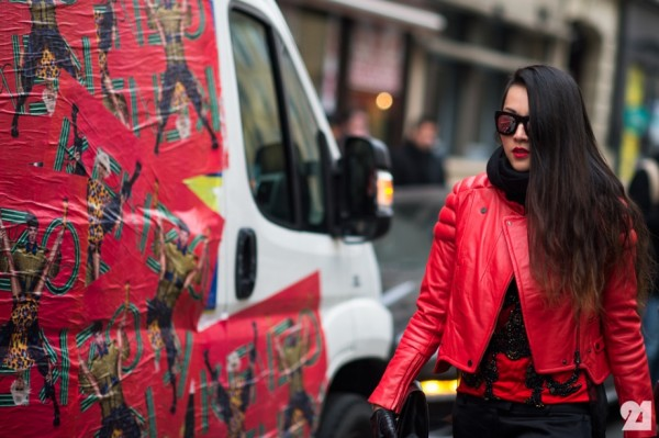 style by yellow button, street style, street stalk, red, leather, women's fashion, style, fashion, le 21eme, sbyb