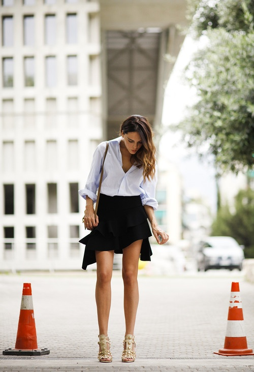 style by yellow button, street style, street stalk, style heroine, trend, ysl, shirt, women's fashion, style, fashion,