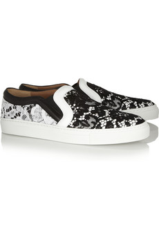 essential trending, claire fabb, style by yellow button, sbyb, slip on sneakers, trend, to buy, shop it, givenchy, lace, sneakers, netaporter