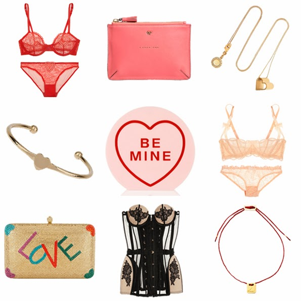 Agent Provocateur, anya hindmarch, stella mccartney, Jordy Askill, Charlotte Olympia, Sylvia Toledano, By Charlotte, Valentine's Day, shop, buy, fashion, netaporter, matchesfashion,