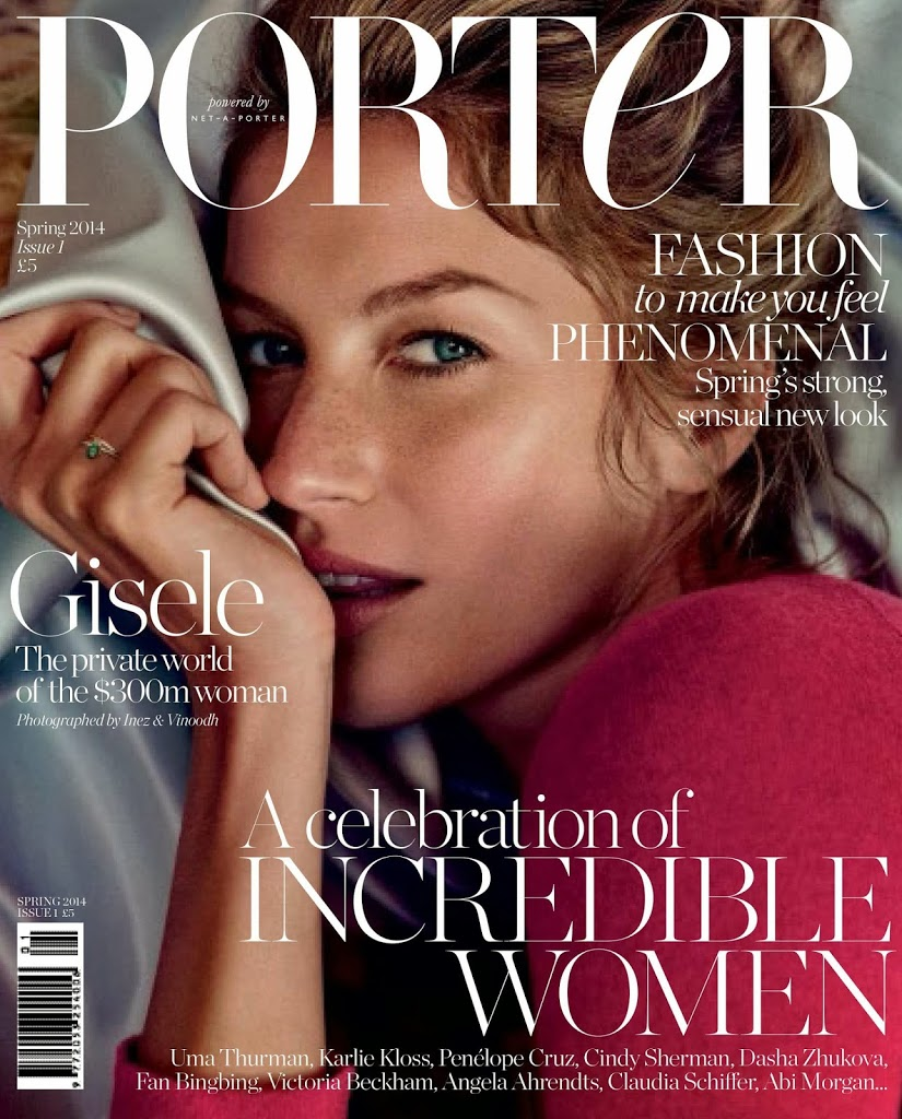 Gisele Bundchen, PORTER, magazine, net-a-porter, magazine, available now, supermodel, Inez and Vinoodh, exclusive, photoshoot,