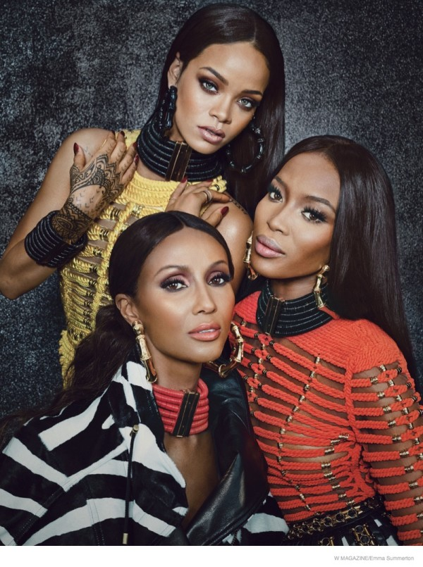 W Magazine, Balmain, Paris, Olivier Rousteing, Rihanna, Iman, Naomi Campbell, model, singer, iconic, designer, interview, photoshoot, fashion, stylist, editorial, sbyb, Style by Yellow Button