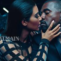 Kayne West and Kim Kardashian for Balmain Spring 2015 Menswear Campaign