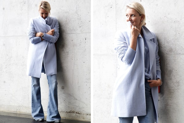 Worn by Claire Fabb Sportscraft: Amber Wrap Coat