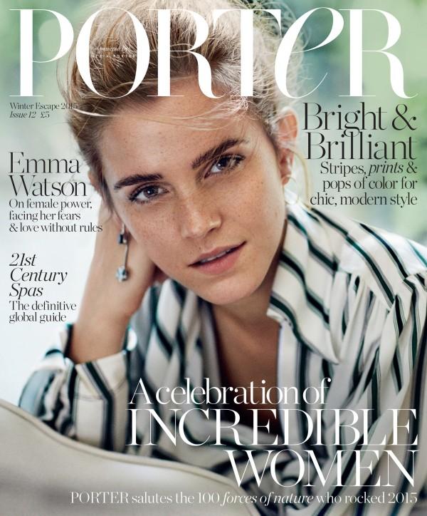 UK cover - PORTER Winter Escape 2015 - Emma Watson